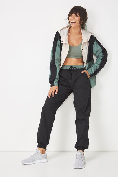 Boxy Zip Through Anorak, FERN GREEN / BLACK
