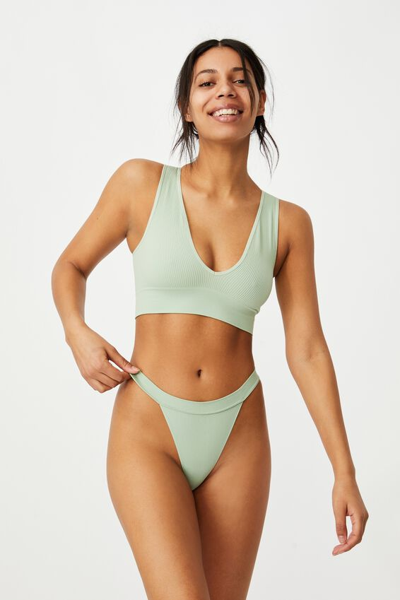 Seamless Tanga Thong, MINT CHIP