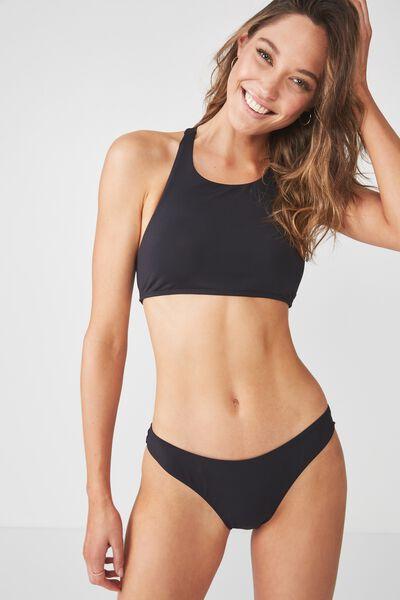 Airlie Crop Bikini Top, BLACK