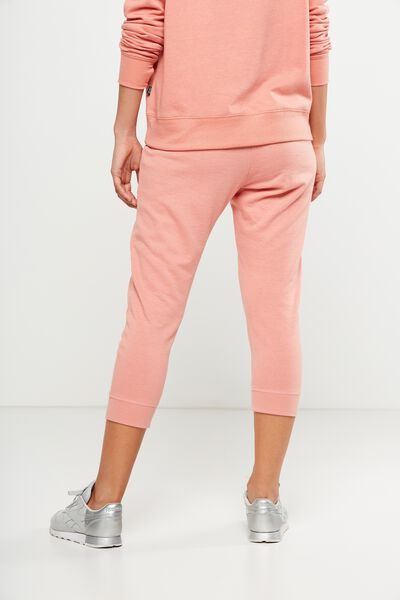 Cropped Gym Track Pants, DUSTY CLAY