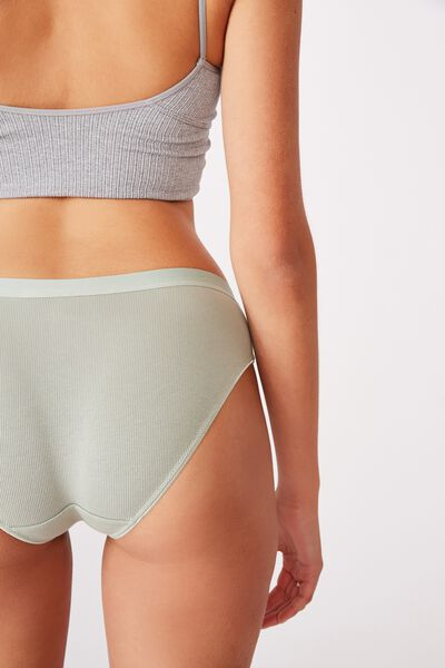 Cotton Rib Bikini Brief, ALOE WASHED