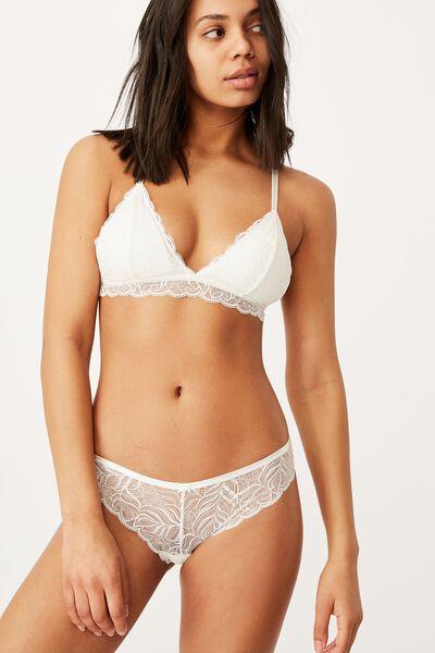 Summer Lace Bikini Brief, CREAM