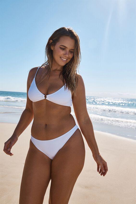 Classic Full Bikini Bottom, WHITE RIB 20