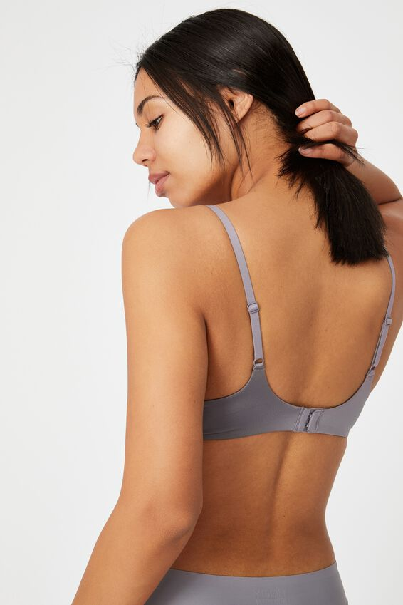 Ultimate Comfort T-Shirt Bra, LIGHT GUNMETAL