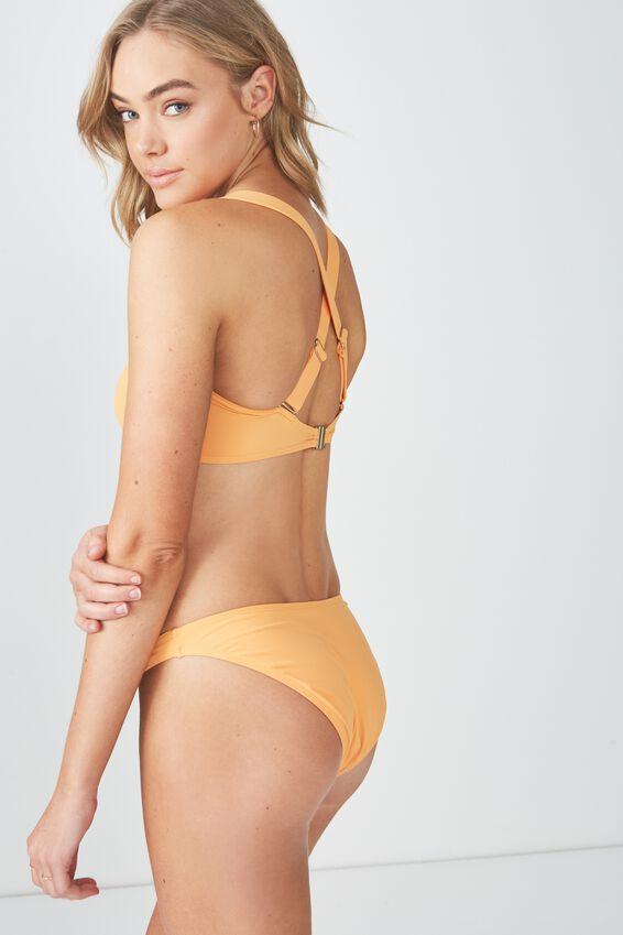 Pia Square Neck Bandeau Bikini Top, HEAT WAVE ORANGE