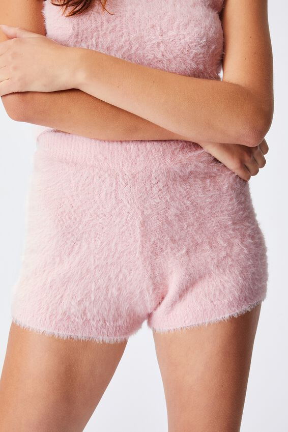 Fluffy Lounge Short, FAIRY TALE PINK