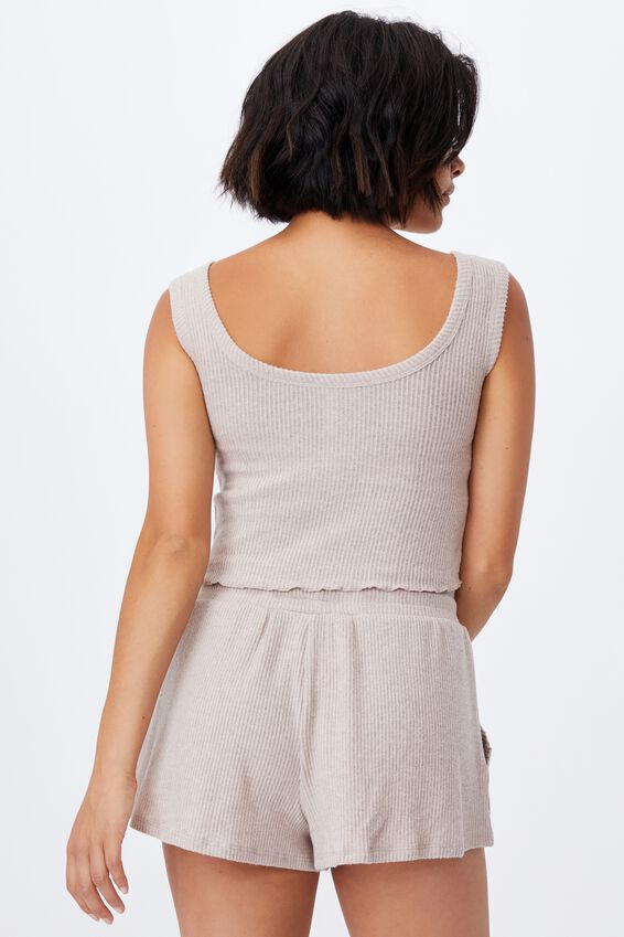 Super Soft Pocket Short, MUSHROOM MARLE RIB