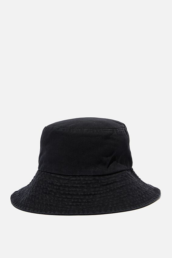 Bonnie Bucket Hat, WASHED BLACK