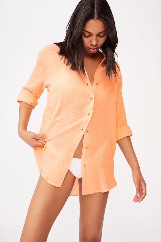 Oversized Beach Shirt, FRUIT TINGLE
