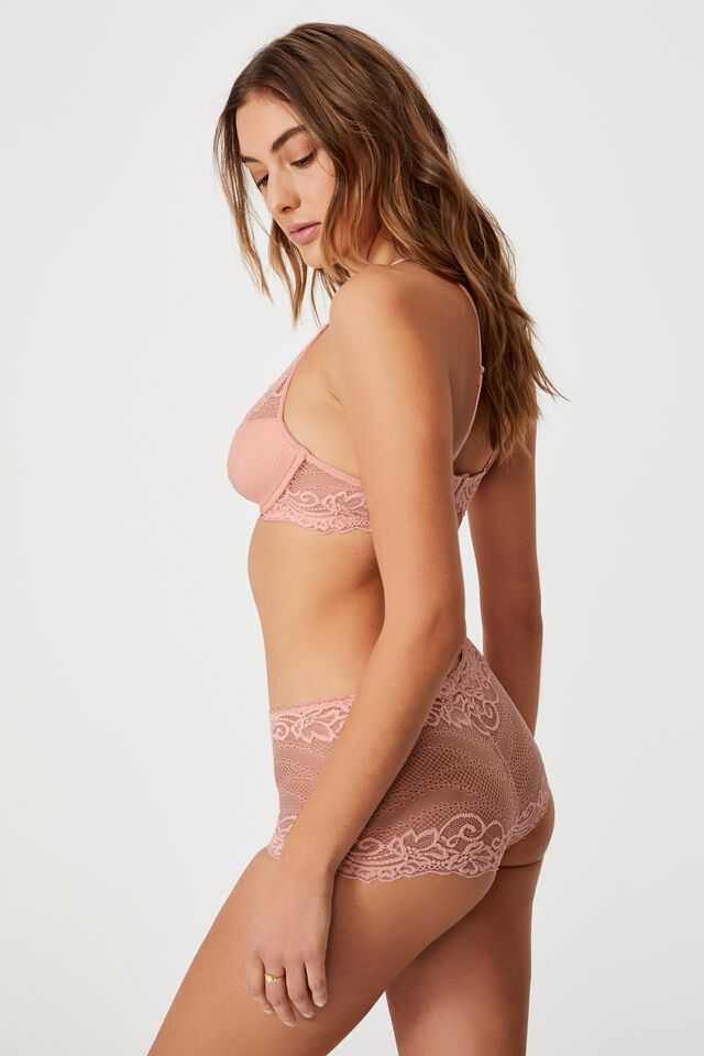 Ainsley Lace Shorty Brief, CANDY FLOSS