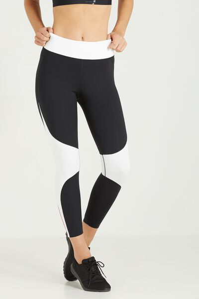 Luxe Power Run 7/8 Tight, BLACK/WHITE