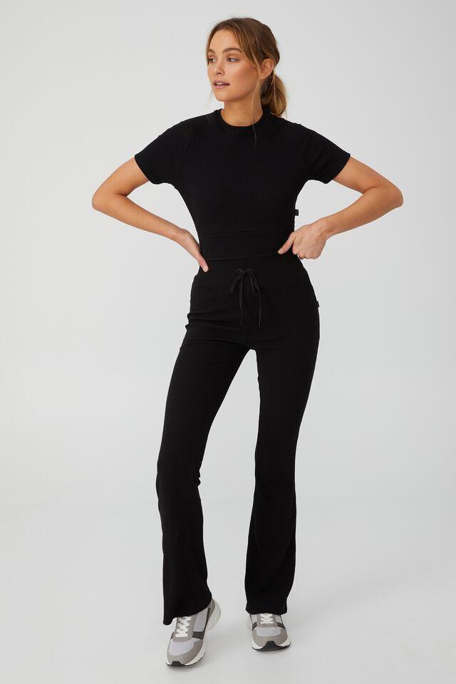 Lifestyle Rib T-Shirt, BLACK