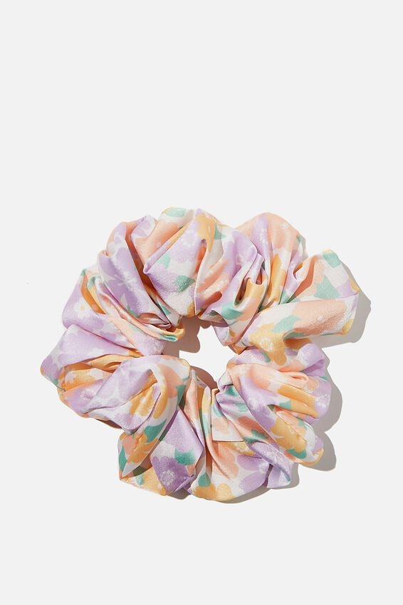 Super Luxe Scrunchie, MULTI RETRO FLORAL