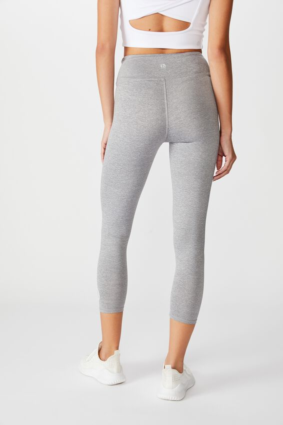 Personalised Core 7/8 Tight, MID GREY MARLE
