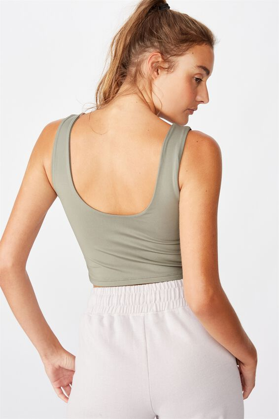 Lifestyle Scoop Back Vestlette, STEELY SHADOW