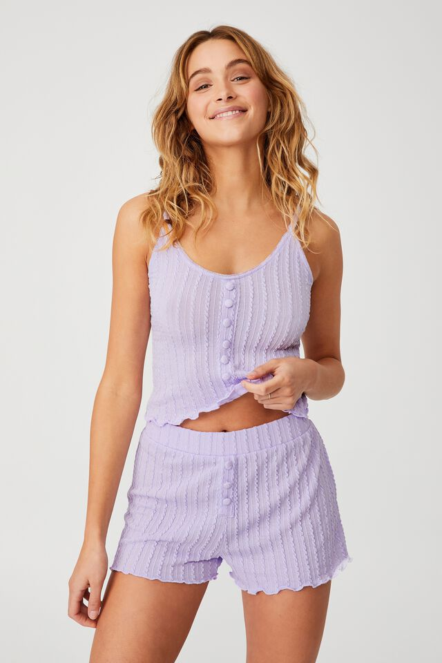Knit Bed Short, CHALKY LAVENDER