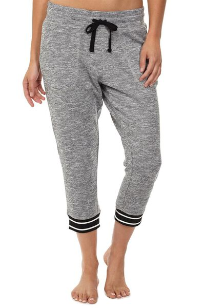 Cropped Gym Track Pants, BLACK/VARSITY