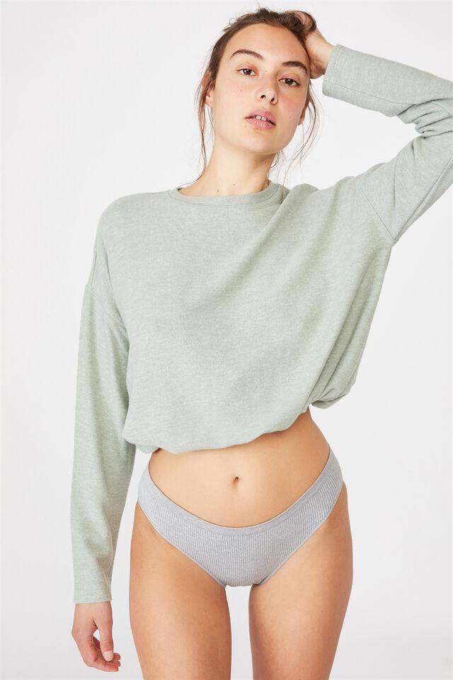 Seamless Bikini Brief, LT GREY MARLE