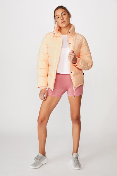 The Mother Puffer Jacket, FUNFETTI