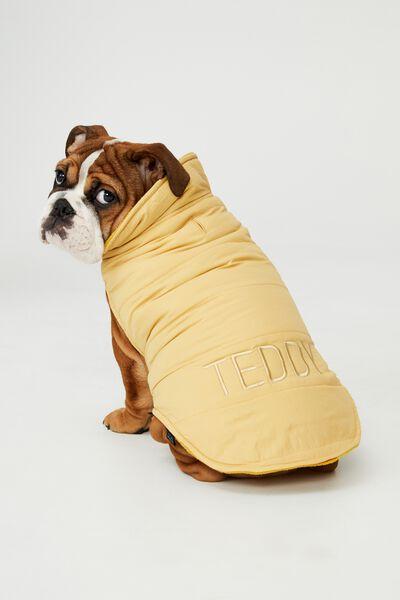 Personalised Body Buddy Mother Puppa Jacket, HONEY MUSTARD