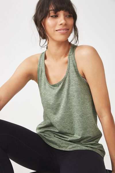 Training Tank Top, GREEN TEA MARLE