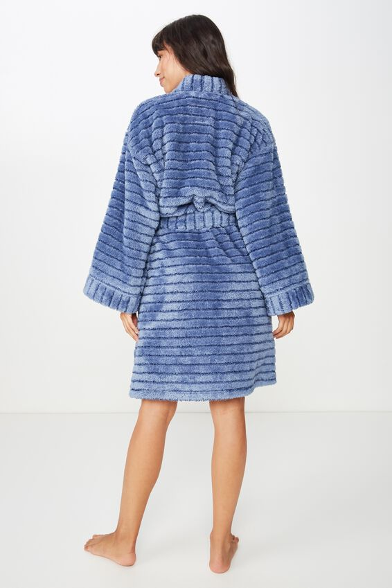 Kimono Plush Gown, TONAL BLUE