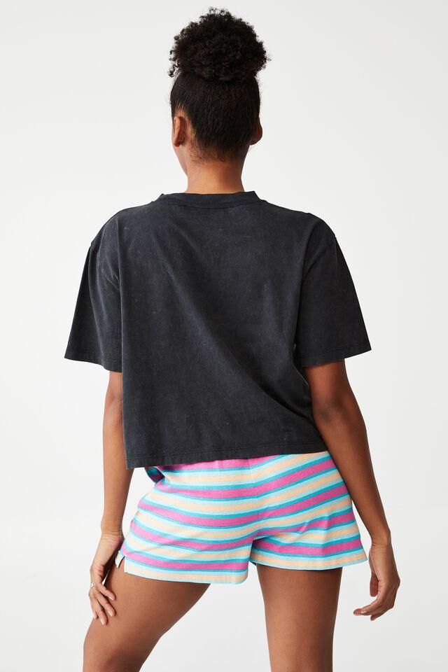 Jersey Chopped Baby T-Shirt, LCN BR BOB MARLEY/SUN WASHED BLACK
