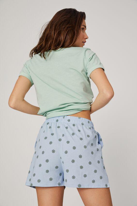 Jersey Button Boxer Short, RETRO DITSY POWDER BLUE