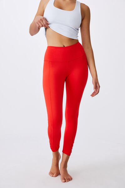 Love You A Latte 7/8 Active Tight, CANDY RED