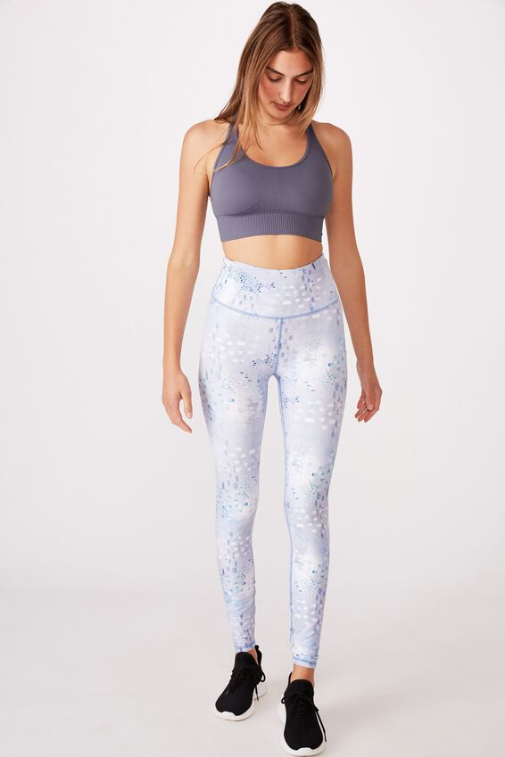 Lifestyle Rib Seamless Crop, WASHED STORM BLUE