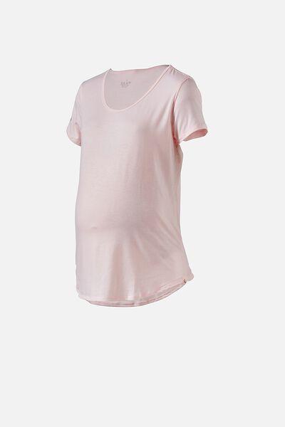 Maternity Gym T Shirt, PINK SHERBET