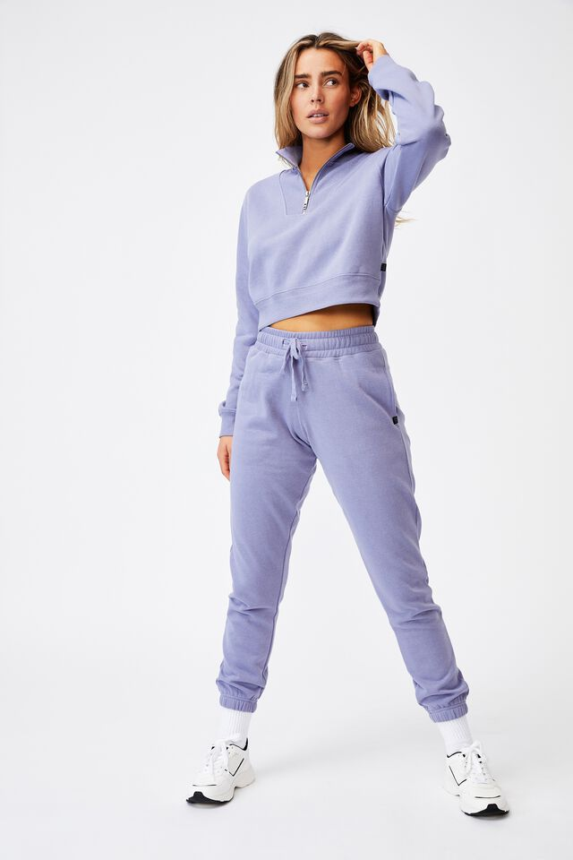 Lifestyle Getting Out Half Zip Fleece, PERIWINKLE