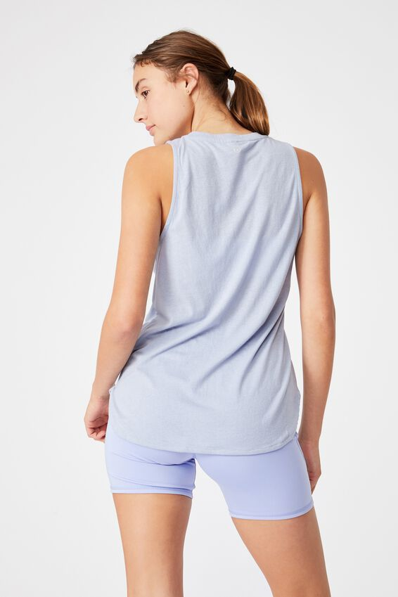 Active Curve Hem Tank, BALTIC BLUE
