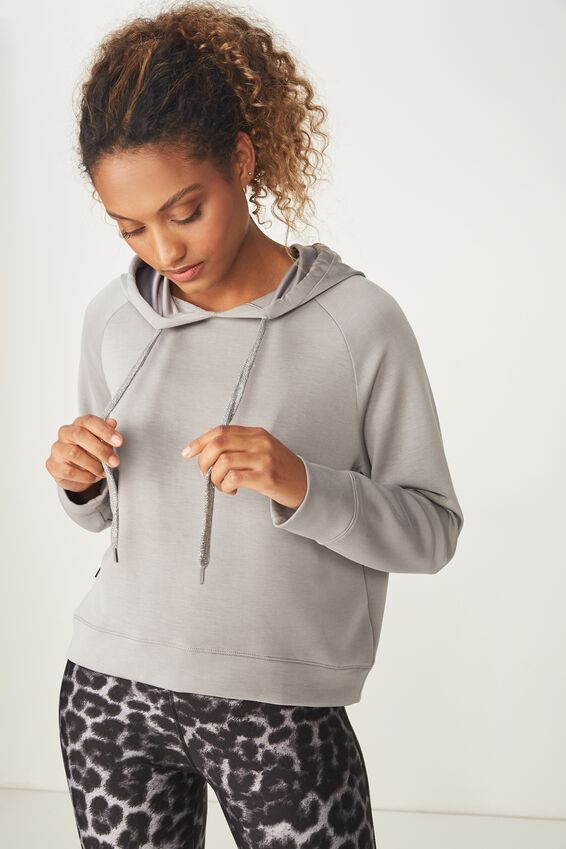 Chalky Long Sleeve Top, MID GREY
