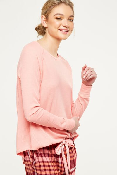 Waffle Top, CORAL GLOW MARLE