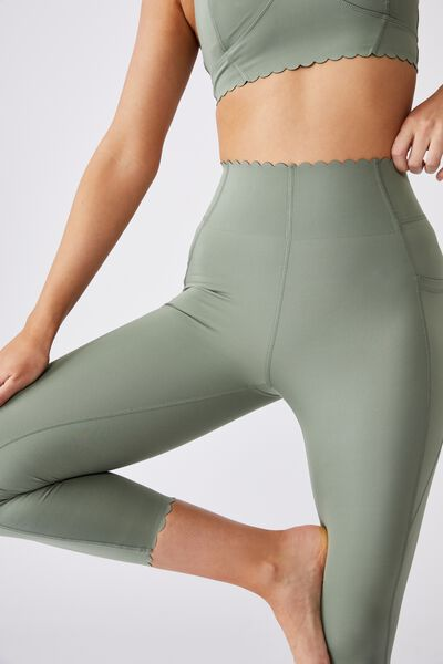 Scallop Hem 7/8 Tight, BASIL GREEN