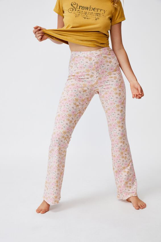 Jersey Bed Pant, SOFTLY RETRO PRETTY PINK