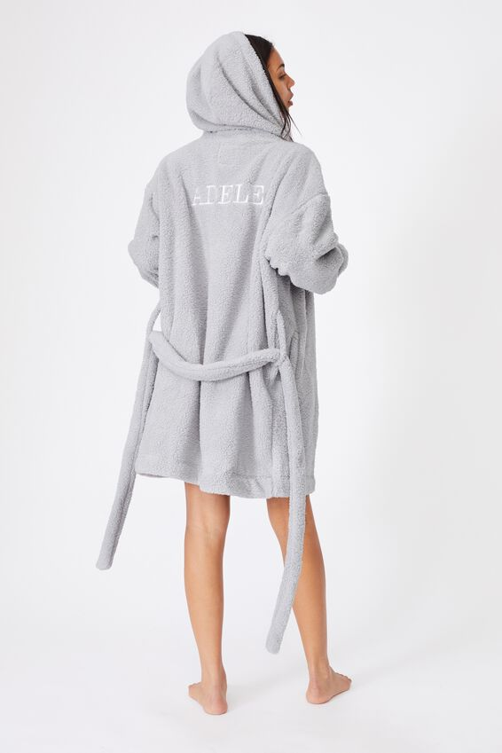 The Lounging Robe Personalisation, SOFT GREY