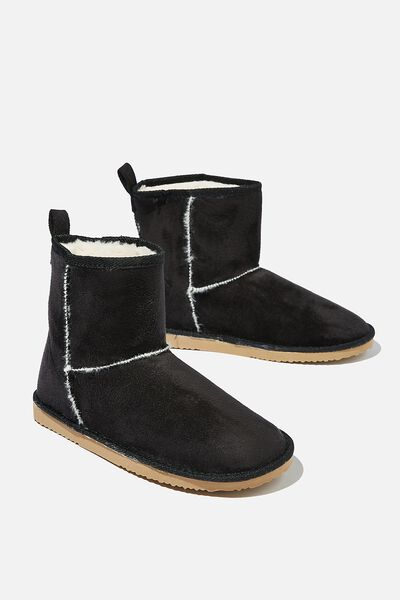 Body Home Boot, BLACK