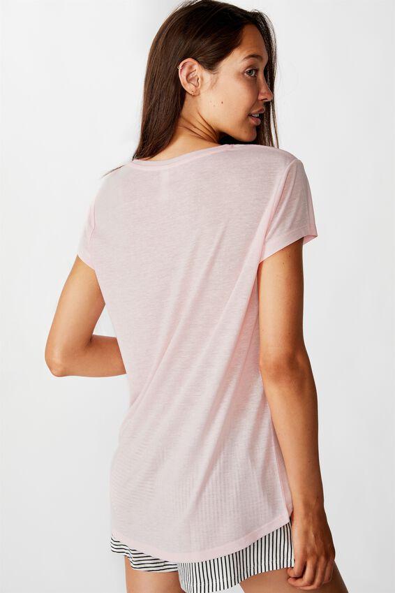 Dreamy Sleep T-Shirt, BEAUTIFUL/CRYSTAL PINK