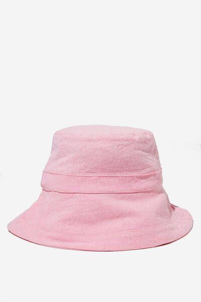 Beachy Bucket Hat, WASHED BUBBLEGUM