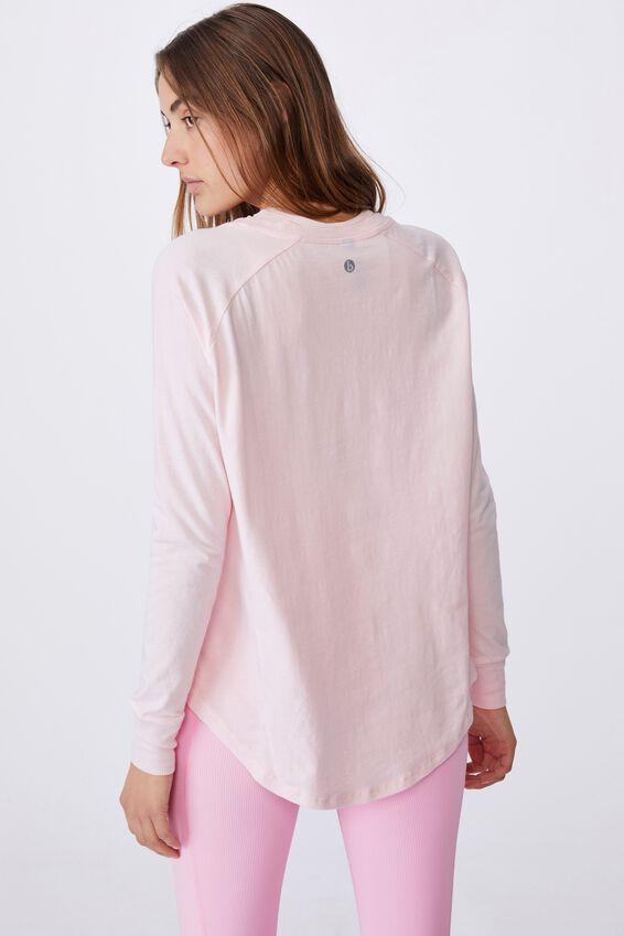 Active Rib Long Sleeve Top, ROSE WATER