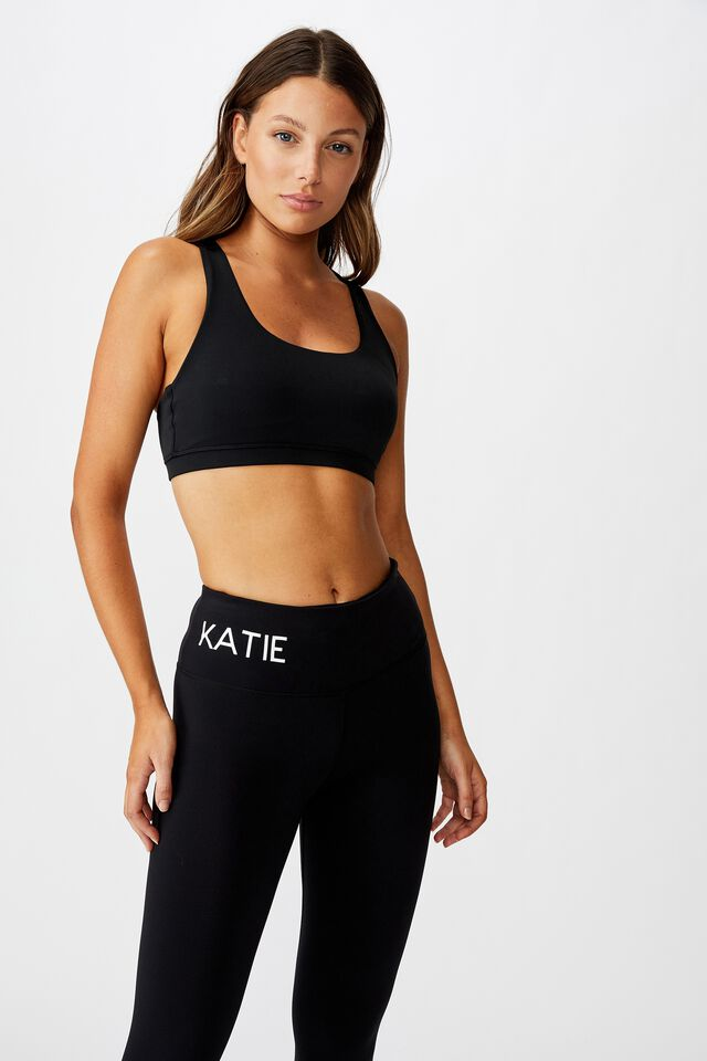 Personalised High Waist Core Tight, BLACK