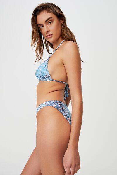 Full Bikini Bottom, PATCHWORK DITSY BLUE SHIMMER