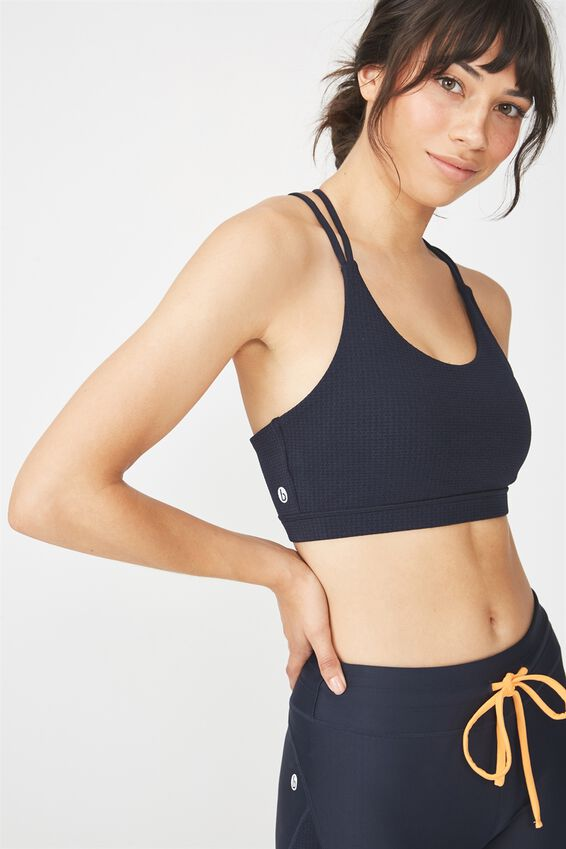 Racer Back Studio Sports Crop, NAVY