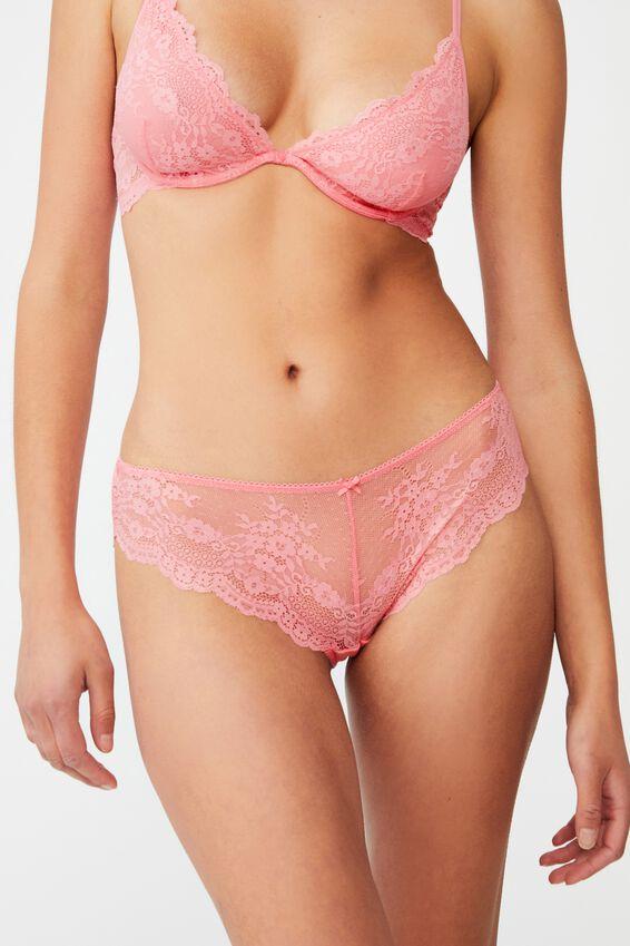 Zoe Lace Bikini Brief, PINK LEMONADE