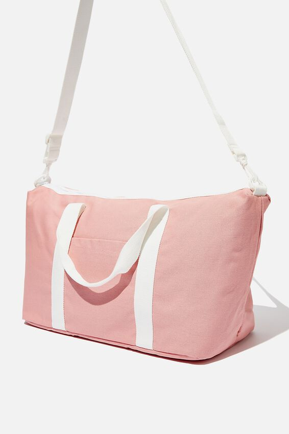 Body Duffle Bag, PINK CANVAS