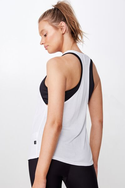 Two In One Tank, WHITE/BLACK RIB