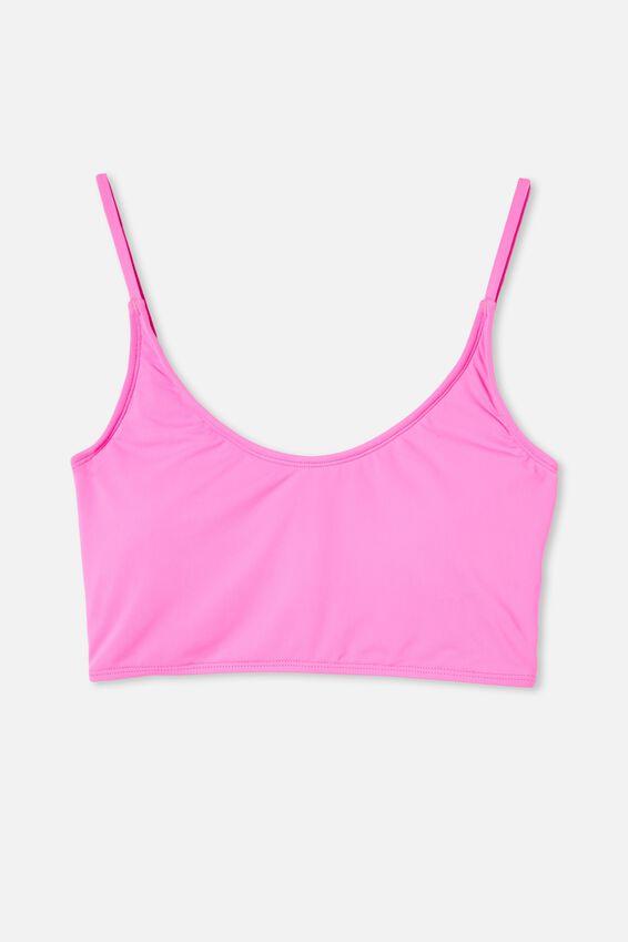 Inclusive Crop Bikini Top Mm, CHARMING PINK
