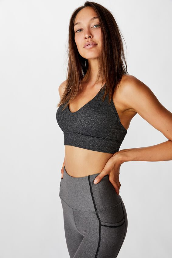 Workout Training Crop, CHARCOAL MARLE